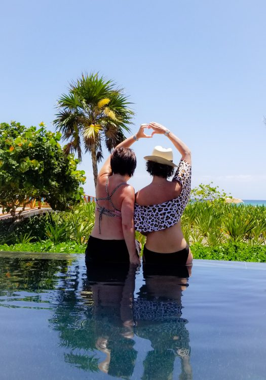 GG and Holly at Unico Resort Mexico