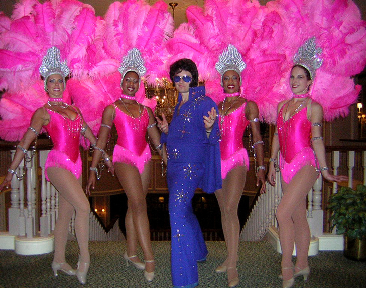 Elvis and his showgirls