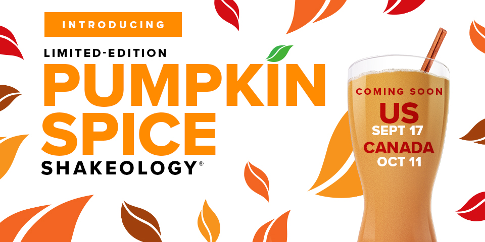 Pumpkin Spice Shakes out for a Limited Time!!