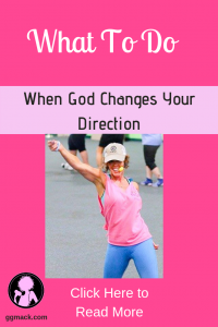 Gods direction changes from GGs fitness career to faith; picture of GG teaching Zumba