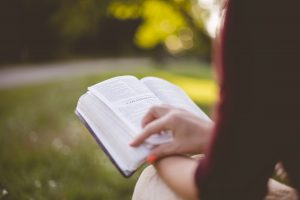 Gods direction changes for GG from faith to fitness; picture of woman reading her bible
