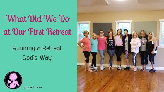 What did we do at our first retreat? Running a retreat was completely a vision that God gave me through lots of prayer time. I want to share the details of the retreat, how I planned it, and God's hand in all of this. ggmack.com #runningaretreat #god #faith #retreatplanning #prayer