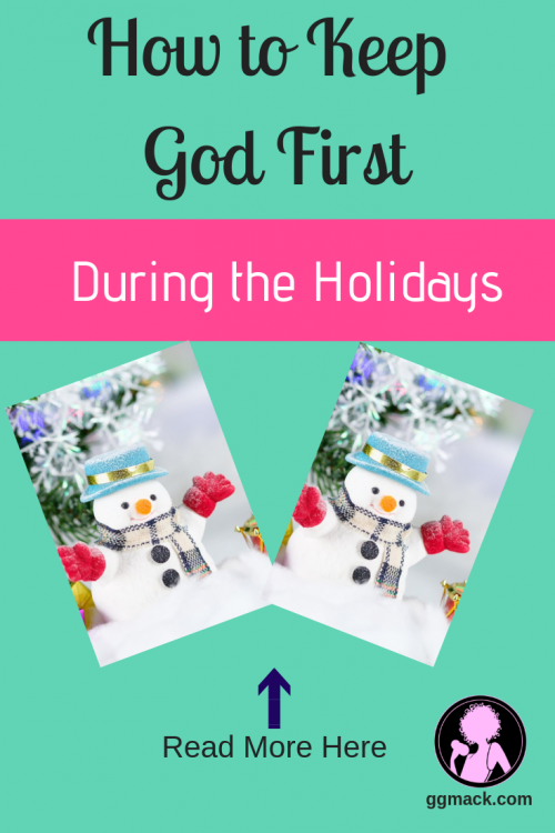 Are the holidays a difficult time for you or maybe just full of stress? Is it difficult finding the time or desire for God during this busy season? I want to share with you my tips to help you focus on God, even during this holiday season. ggmack.com #holiday #stress #god #jesus #christmas #stressfulholidays #prayer