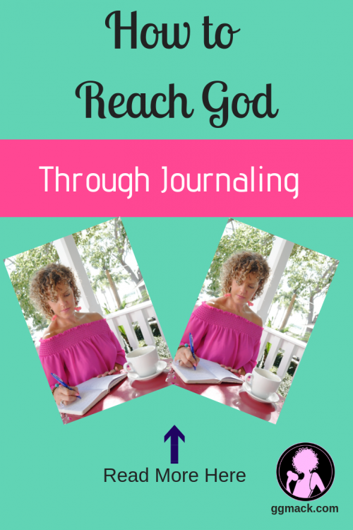 How to reach God through journaling. Have you wanted to start journaling but not sure how? I'm going to share what I do daily with my faith journaling and how it has changed my life. ggmack.com #journaling #faithjournaling #journalideas #god #faith #keepingajournal