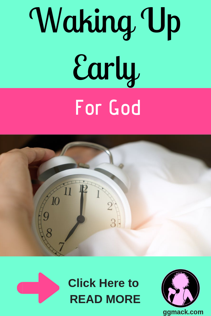 Does the thought of waking up earlier just sound crazy? I promise if you are waking up early for God and just for 5 minutes, you will notice a change in your life. God wants to show up in your life, in a big way. Check out these very easy steps to make that morning time for God. ggmack.com wakingupearly #getupearly #god #jesus #prayer #morningroutine #dailydevotional