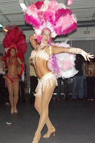 GG dancing as a Brazilian Showgirl