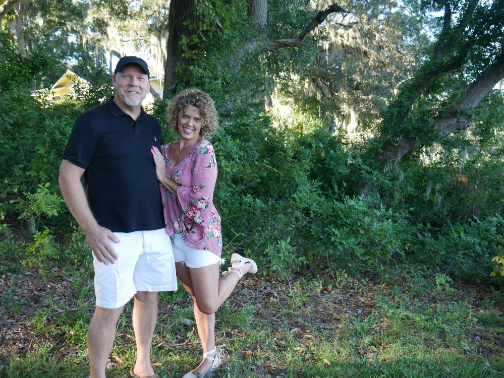 picture of GG and husband MIchael standing in the yard