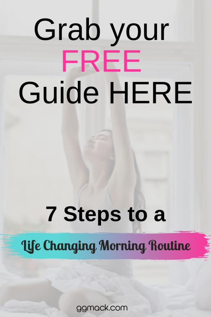 grab your free guide to life changing mornings and picture of a girl waking up and reaching up